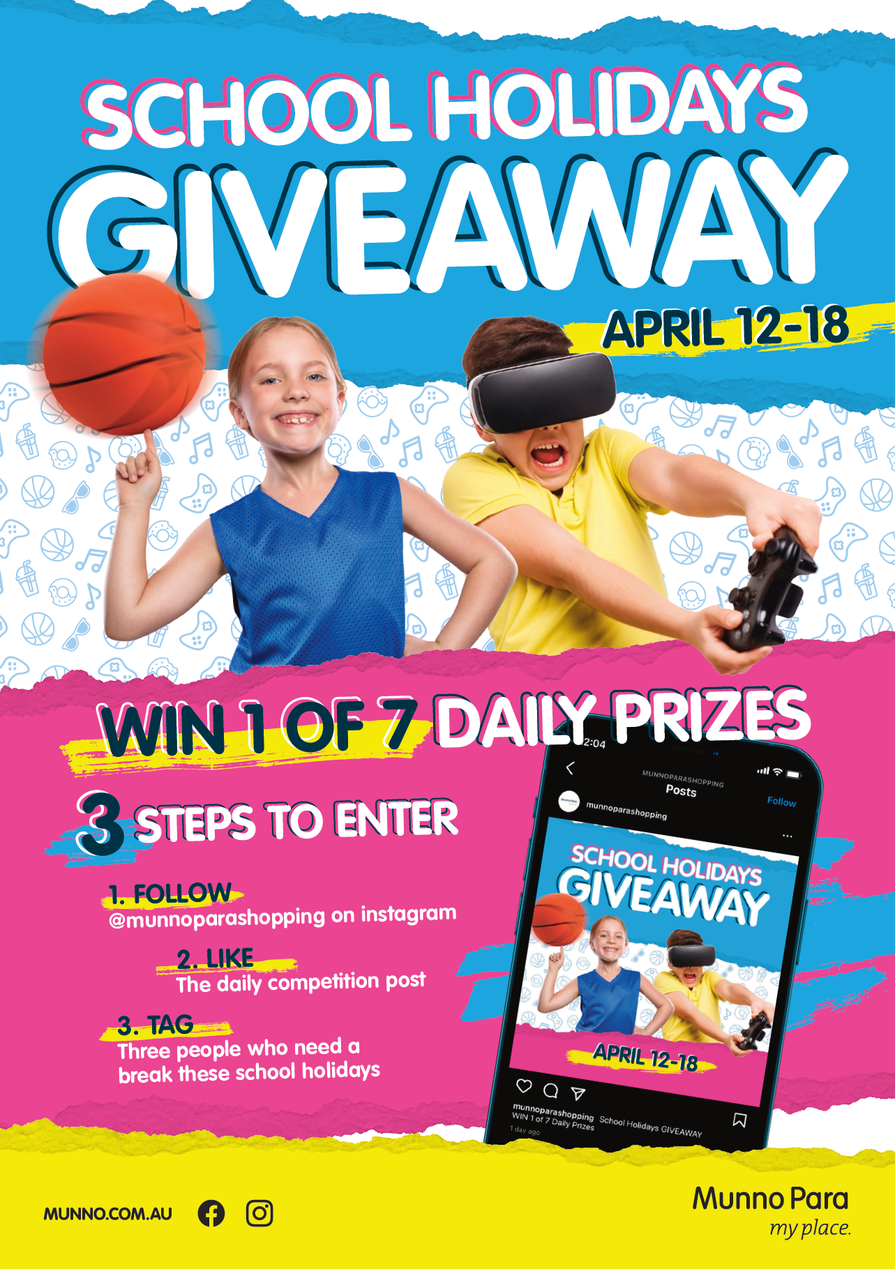 Win 1 of 7 Daily prizes April 12 - 18