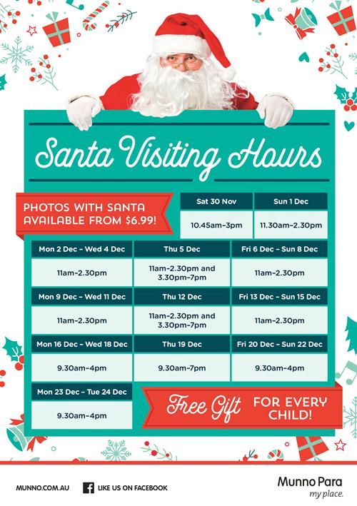 Santa Visiting Hours
